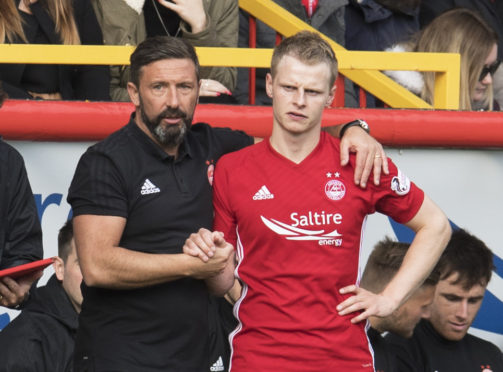 Derek McInnes (left) and Gary Mackay-Steven.