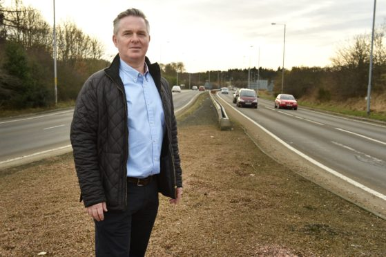 Colin Clark MP has called for the A96 to be dualled along the existing route. (Picture by Colin Rennie)