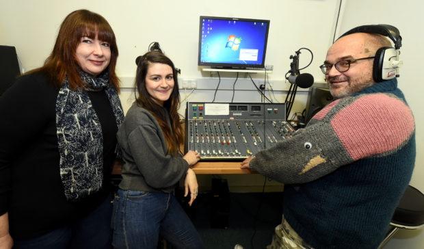 Sarah Burns, Frieda Strachan and Alan Parker from Shmu.