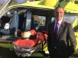 Liam McArthur with the SCAA helicopter