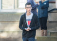 Callum Stewart leaving Elgin Sheriff Court.