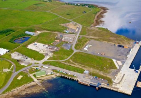Oil contamination exists on the Lyness site, which used to be a Royal Navy fuel depot.