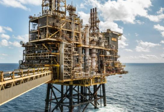 Shell's Shearwater platform in the North Sea.