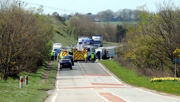 The scene of the crash in Hatton.