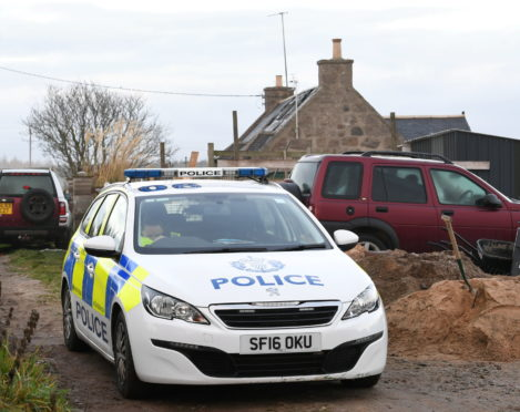Picture from the aftermath of the fatal house fire at Benthoul Cottage near Peterculter.