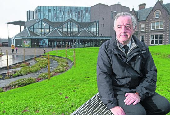Councillor Alex Graham whose constituency includes Eden Court outside the theatre.
