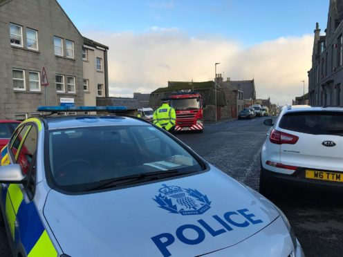 Emergency services rushed to the scene yesterday and set up a cordon.