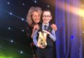 Xander Johnston receiving the RSPB award for Young Nature Champion.