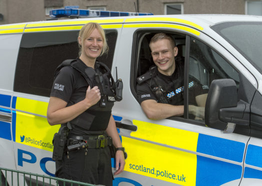 SPF Bravery Awards  PC Lynn Cameron and PC Craig McFarlane   rescued a woman from a Fire in her Flat in Old Town Road in Inverness  Pic Trevor Martin