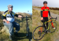 John Meres cycling before and after his challenge