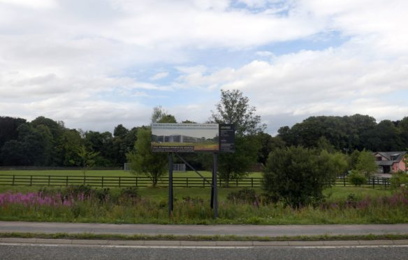 The land at Ardene House Veterinary Hospital, Kingswells, where developers hope to create a number of restaurant units.