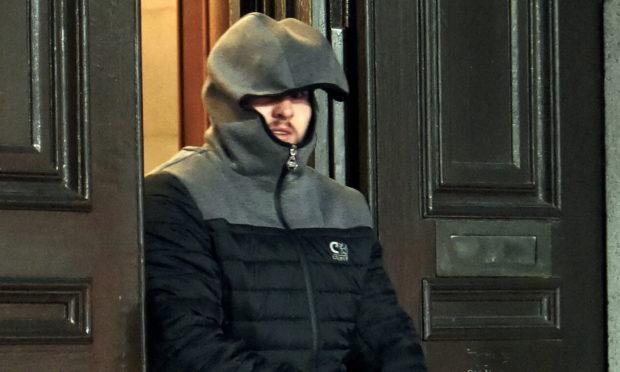 Patrick Mcglone leaving Aberdeen Sheriff Court.