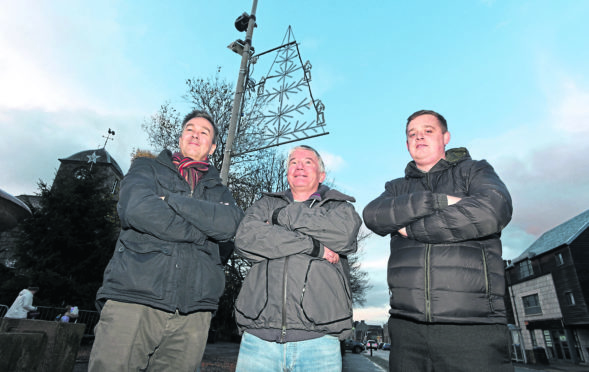 Members of the fundraising committee from left, Kevin Williamson, Nick Dorrington and Steve MacDonald.