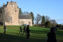 Police search the grounds of Crathes Castle for signs of missing Aberdeen teenager Liam Smith.
