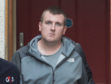 James Scott leaving Elgin Sheriff Court,