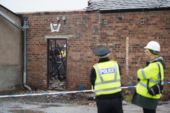 Keith blaze destroys linen warehouse at town's business park