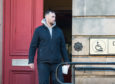 Colin Campbell leaving Elgin Sheriff Court
