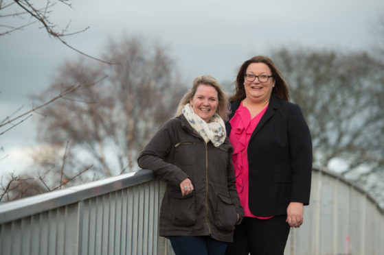 Moray Council's communities committee chairwoman Louise Laing and convener Shona Morrison.