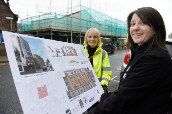 Provost Helen Carmichael and Johanna MacDonald, development officers of Highland Housing Alliance