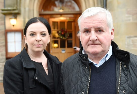Henry Dow and Julie Lister photographed ahead of the hearing in the Lochardil Hotel, Inverness