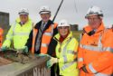 Sheriff Principal Derek Pyle leads topping off ceremony on the roof of Inverness's Justice Centre