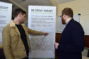 The Moray West proposals are discussed at a consultation event.