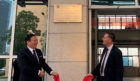 University of the Highlands and Islands principal and vice-chancellor, Professor Clive Mulholland unveils plaque to new microcampus alongside President Liu Guofan