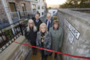 Provost Helen Carmichael cut the ribbon to signify completion of the raining stairs development.