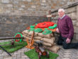Wullie Adam created his own war memorial for the Church of Christ in Buckie.