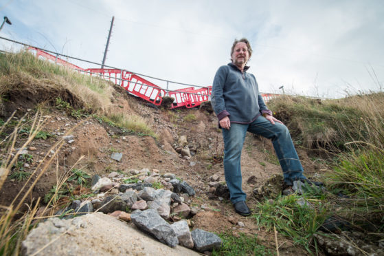 Rob Barsby, chairman of Portknockie's Flood Action Group.