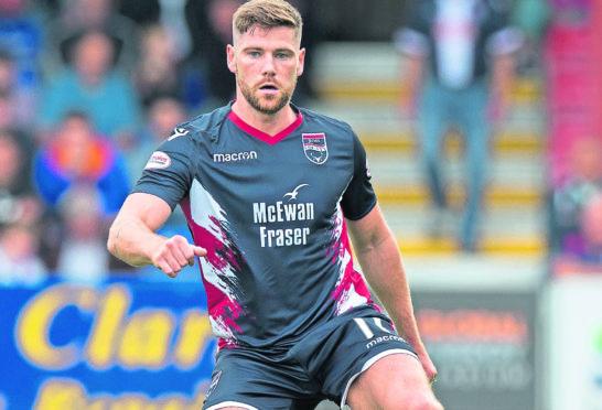 Ross County midfielder Iain Vigurs.