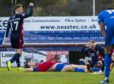 Ross County's Billy McKay (far right) celebrates Ross County's equaliser