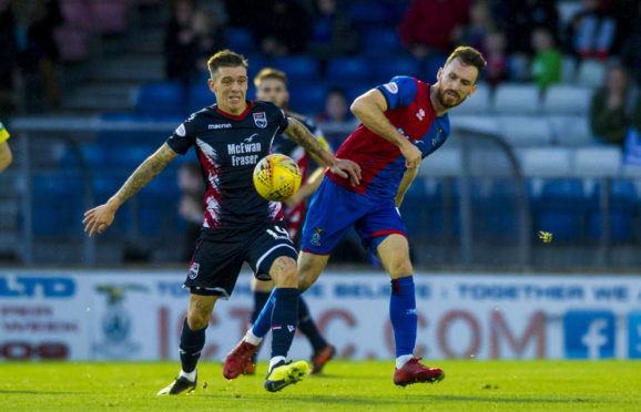 Joe Chalmers is set to start for Caley Thistle at left-back.