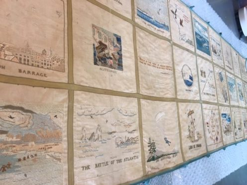 The tapestry was created by Denmouth SWRI members in the 1940s.