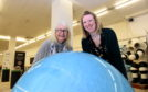 Liz Hodge and Elaine Holland at The Aberdeen Science Centre.