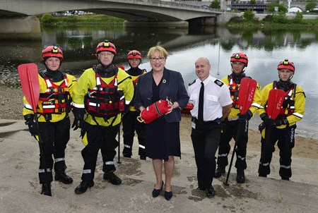 Community Safety Minister Annabelle Ewing announcing funding for rural fire and rescue appliances back in June 2018.