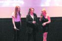 Karen Gillan at Eden Court with The Party's Just Beginning producer Mali Elfman and actress Rachel Jackson.