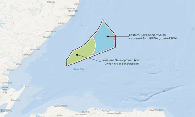 Moray East and West windfarm plans.