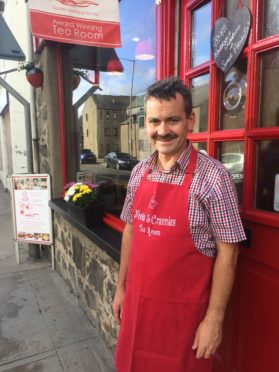 Owner Malcolm Watson outside his cafe Nooks and Crannies which will be receiving a face-lift