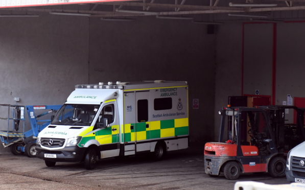 An ambulance at the Thainstone Centre.