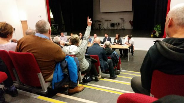 Residents of Portlethen attended a meeting at the school on Thursday evening.