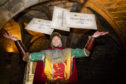 The ticket giveaway was launched by 'Robert the Bruce' at Dunfermline Abbey at the end of October
