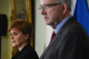 Scotland's First Minister Nicola Sturgeon and Scotland's Brexit minister Michael Russell.