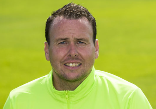 Caley Thistle assistant Scott Kellacher.