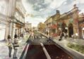 A proposed artists impression of how Academy Street will look under the current proposals