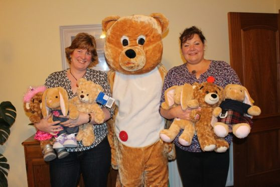 Lynn Park, left and Jenny Gow, right, founders of the Buttony Bear Project.