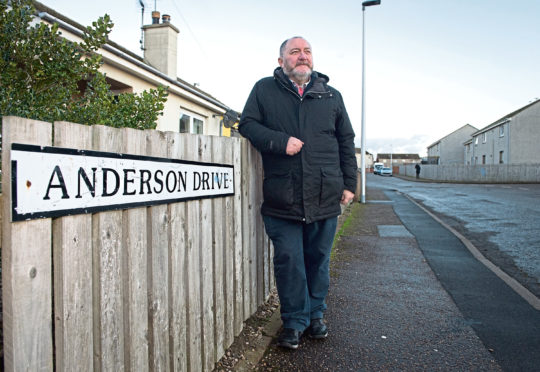 John Divers at the bottom of Anderson Drive in New Elgin, Moray.