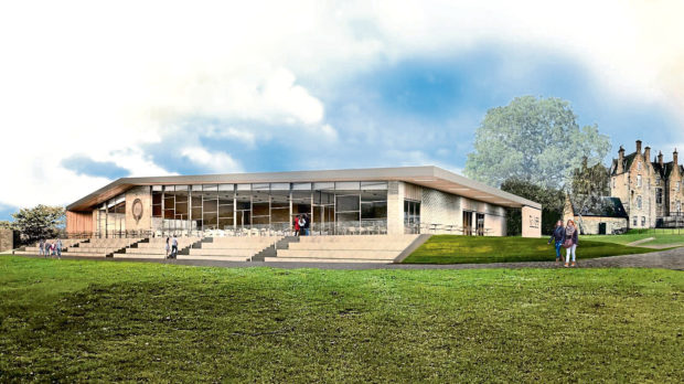 An artist's impression of the new members' pavilion at the Royal Highland Show.