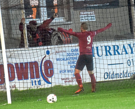 Inverurie's sixth goal scored by Chris Angus.