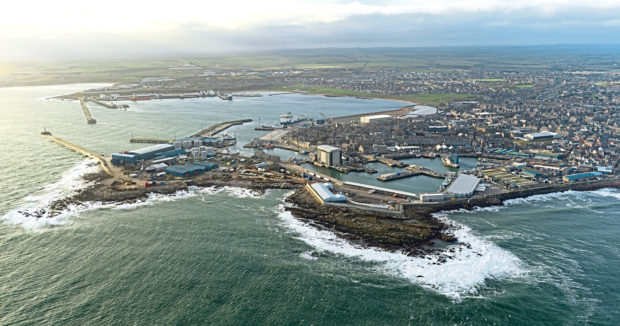 Peterhead port.